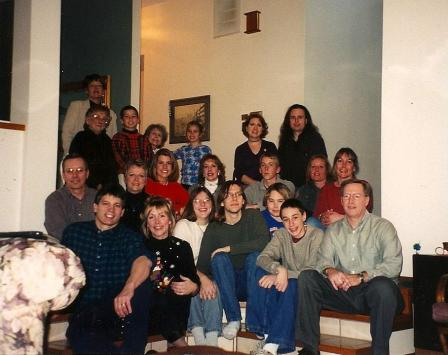 My huge, wonderful extended family on Christmas in 2001.